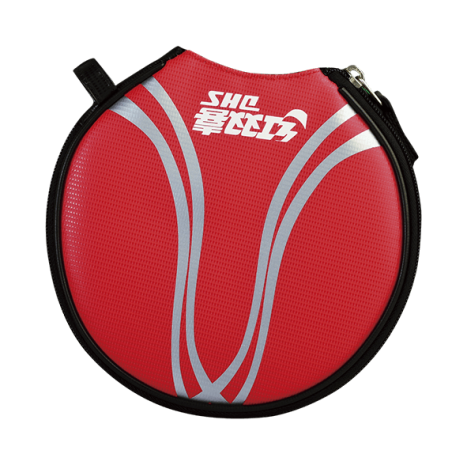 RC510 DHS RHINO-TECH ROUND BAT COVER RED- נרתיק עגול לטניס שולחן